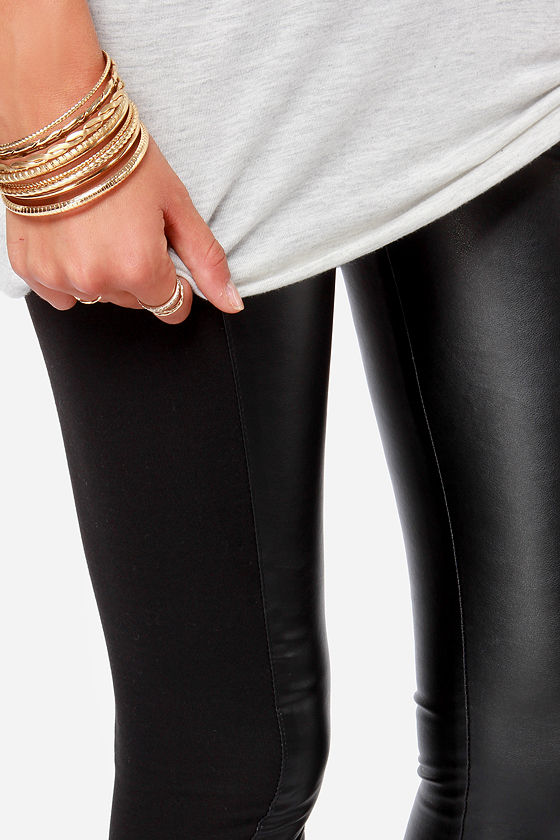 Jack by BB Dakota Martini Black Vegan Leather Pants at Lulus.com!