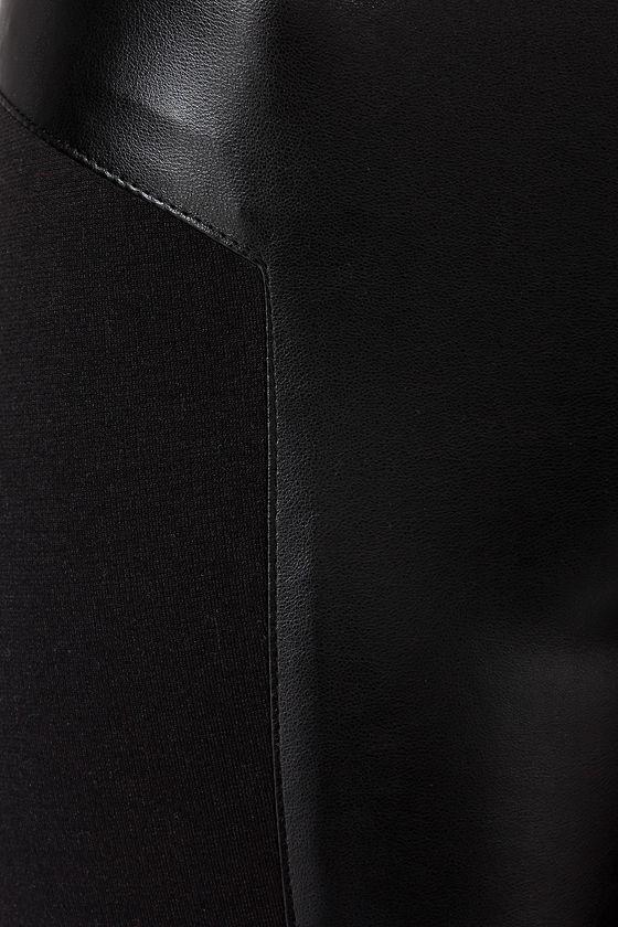 Jack by BB Dakota Martini Black Vegan Leather Pants at Lulus.com!