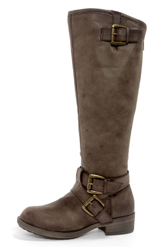brown boots knee high boots motorcycle boots 79 00