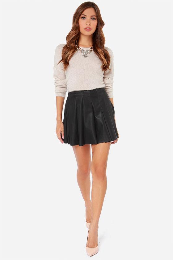 bb dakota nynette skirt black mini skirt vegan leather