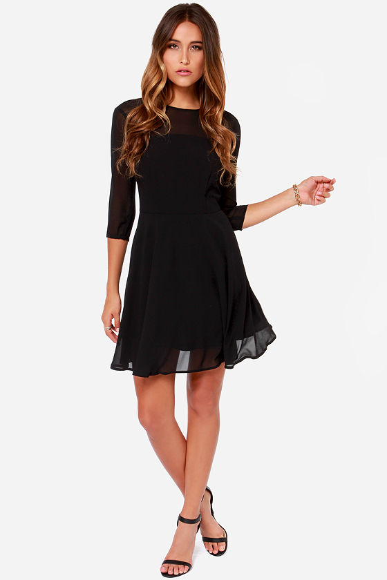BB Dakota Shaelei Black Dress at Lulus.com!