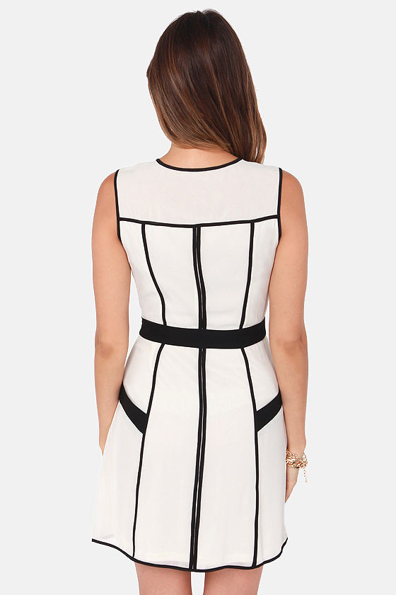 Double the Fun Black and Ivory Dress at Lulus.com!