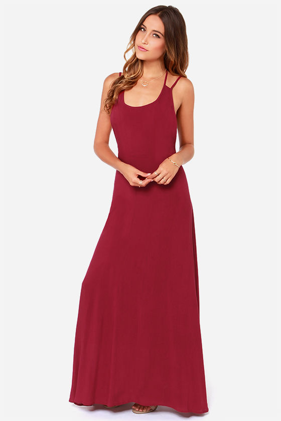LULUS Exclusive All About You Burgundy Maxi Dress at Lulus.com!