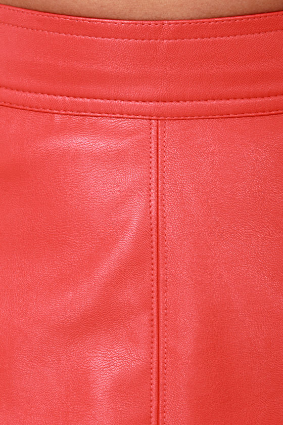 Happily Leather After Red Vegan Leather Skirt at Lulus.com!