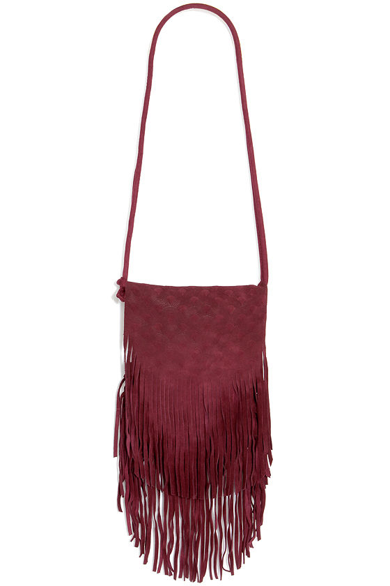 a17493c5b50b Cute Burgundy Purse - Leather Purse - Fringe Purse -  67.00