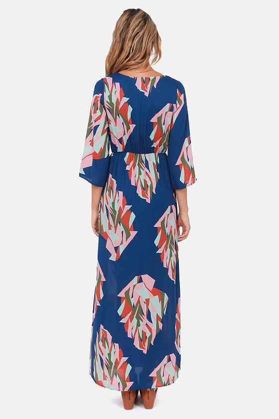 Day in the Life Blue Print Maxi Dress at Lulus.com!