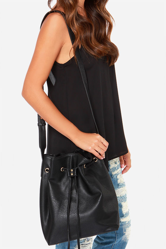 Cute Black Tote - Black Handbag - Bucket Bag - $53.00