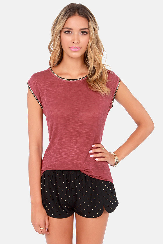 Black Swan Shine Wine Red Sleeveless Top at Lulus.com!
