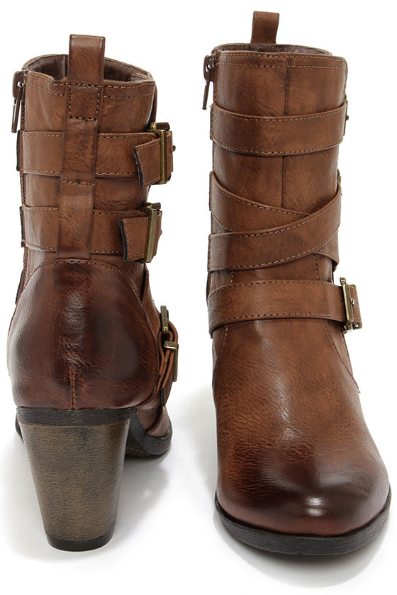 85f16480861a Cute Brown Boots - Vegan Leather Boots - High Heel Boots -  60.00