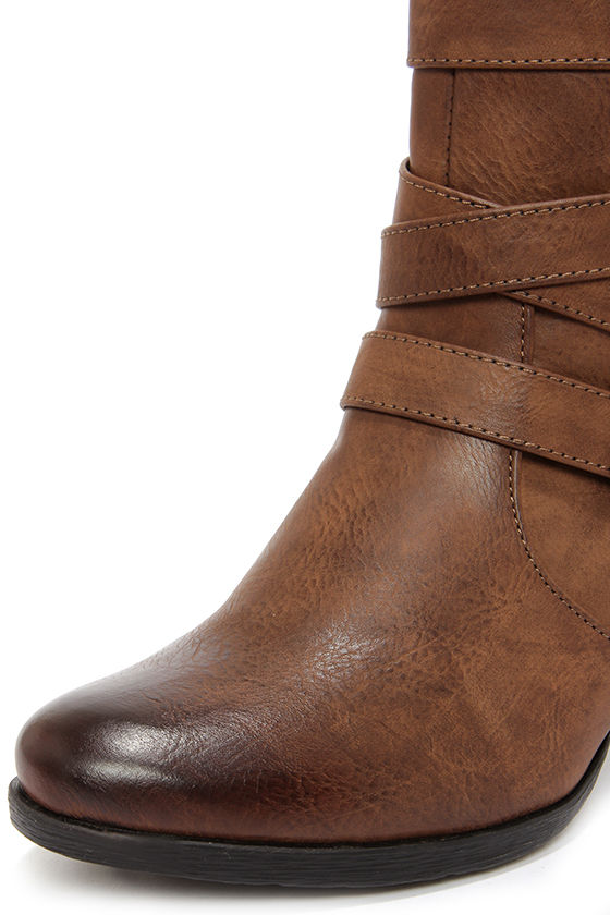 C Label Sandra 11 Dark Brown High Heel Boots at Lulus.com!