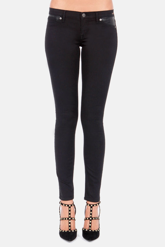 Dittos Wendy Black Skinny Jeggings at Lulus.com!