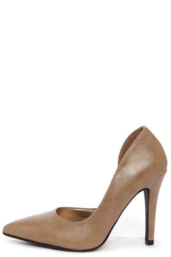 My Delicious Mitten Taupe D'Orsay Pumps at Lulus.com!
