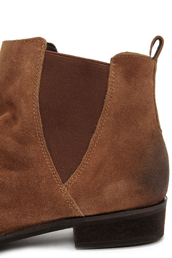 Coconuts Lee Tan Suede Ankle Boots at Lulus.com!