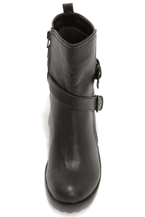 Soda Shena Black High Heel Boots at Lulus.com!
