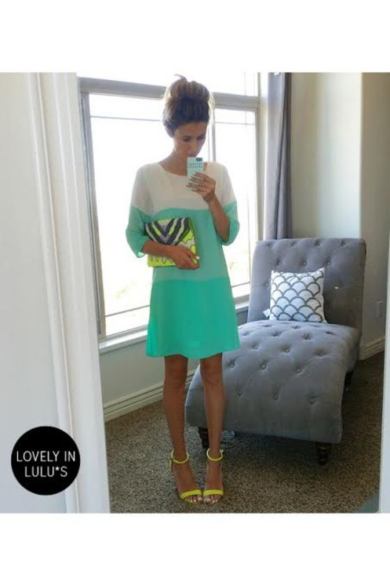 LULUS Exclusive Citrus Grove Mint and Sea Green Shift Dress at Lulus.com!