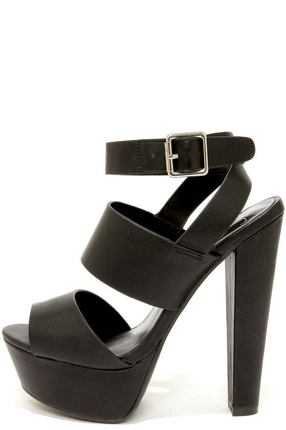 85972abf12f Cute Black Shoes - Platform Sandals - Platform Heels -  29.00