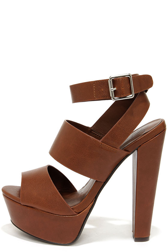 Cute Brown Shoes - Platform Sandals - Platform Heels - $29.00