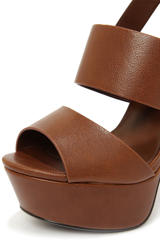 My Delicious Capable Light Brown Strappy Platform Sandals at Lulus.com!