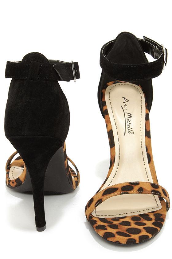 e4f87bf37 Sexy Single Strap Heels - Ankle Strap Heels - Leopard Print Heels ...
