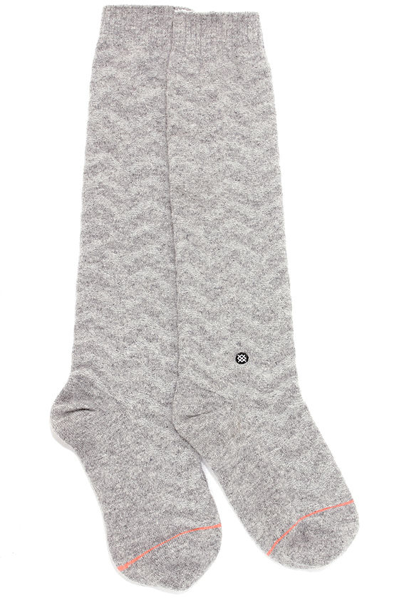 Stance Mount Blue Grey Chevron Socks at Lulus.com!