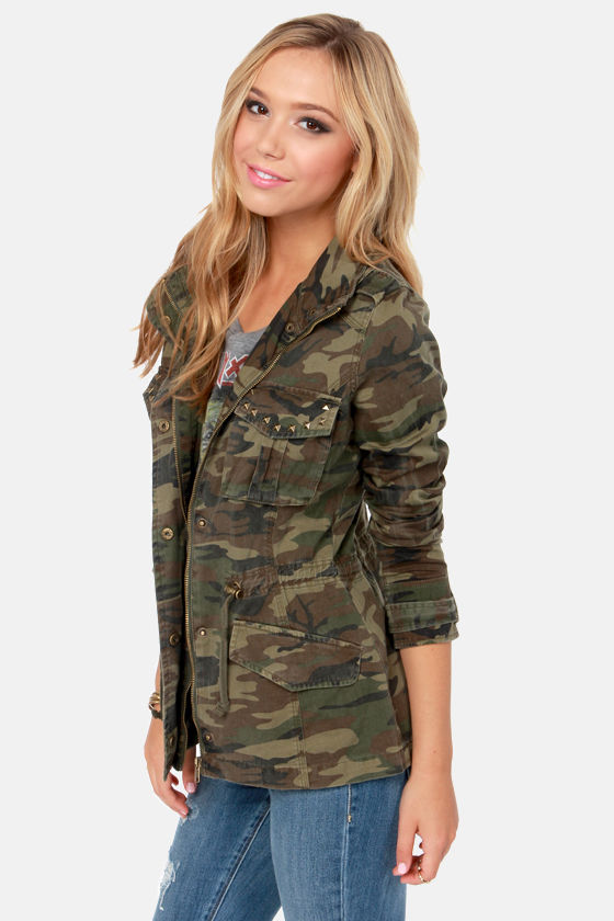 White Crow Angeline Camo Print Military Jacket at Lulus.com!