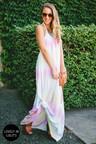 Pretty Tie Dye Dress Maxi Dress Halter Dress 65 00