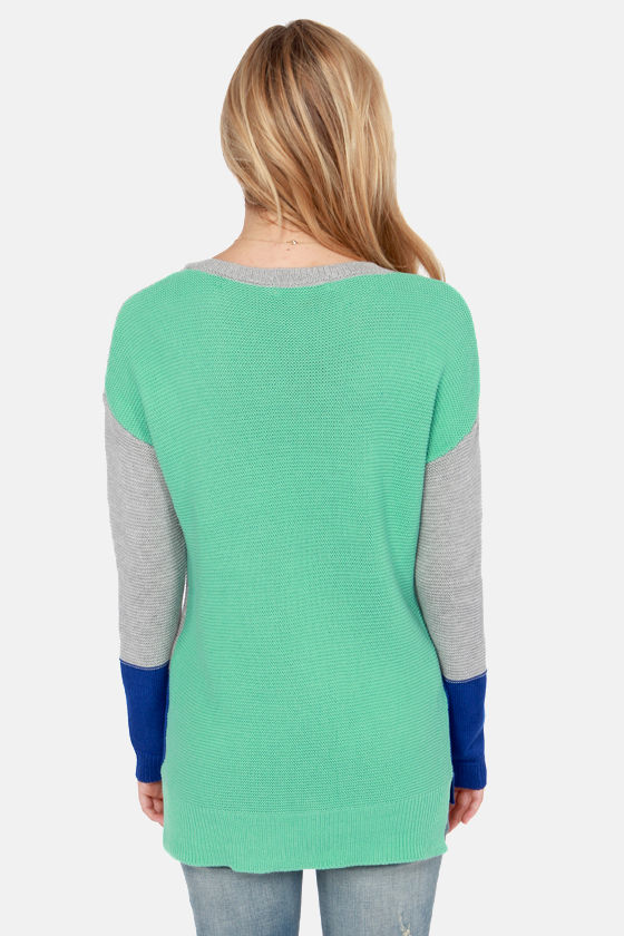 Olive & Oak With Flying Color Block Knit Sweater at Lulus.com!