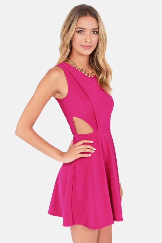 Run the Show Backless Magenta Dress at Lulus.com!