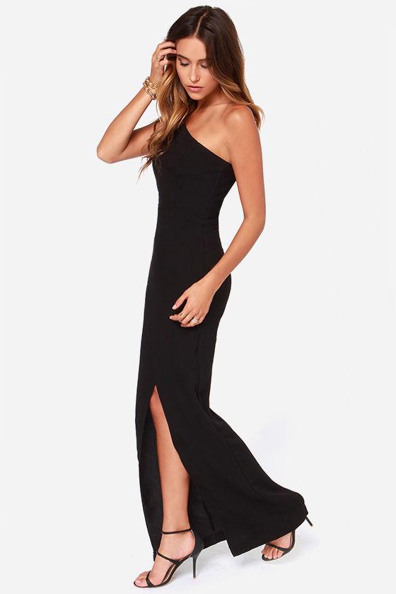 26f50903334 Black Maxi - Evening Dress - One Shoulder Dress -  123.00