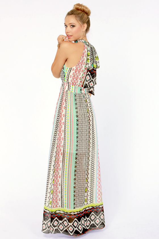 Print to Be Ivory Print Maxi Dress at Lulus.com!