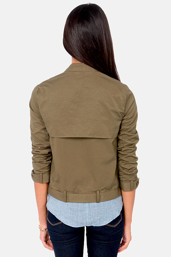 A Taste For Trends Olive Green Jacket at Lulus.com!