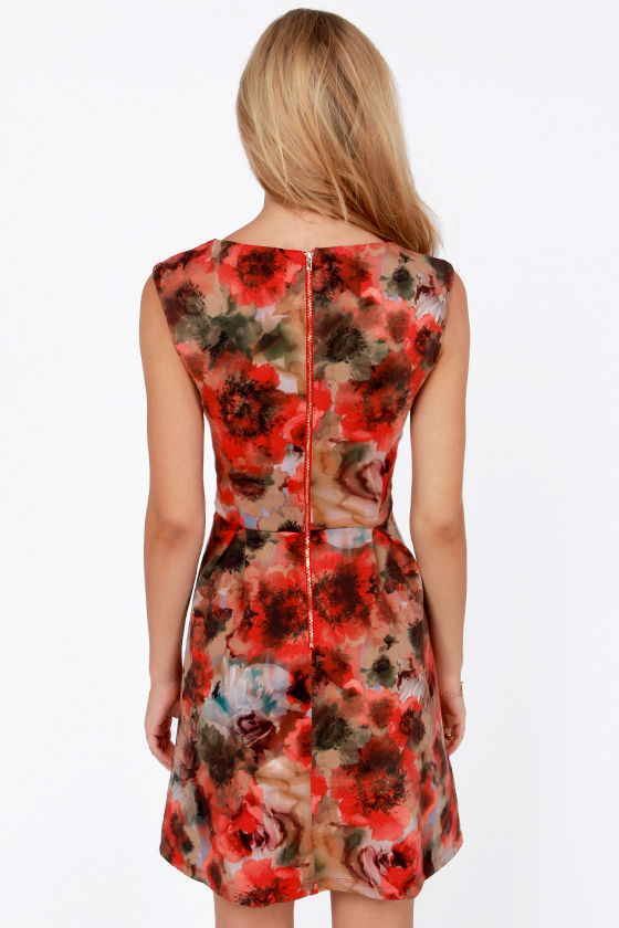 Poppy Fields Forever Floral Print Dress at Lulus.com!