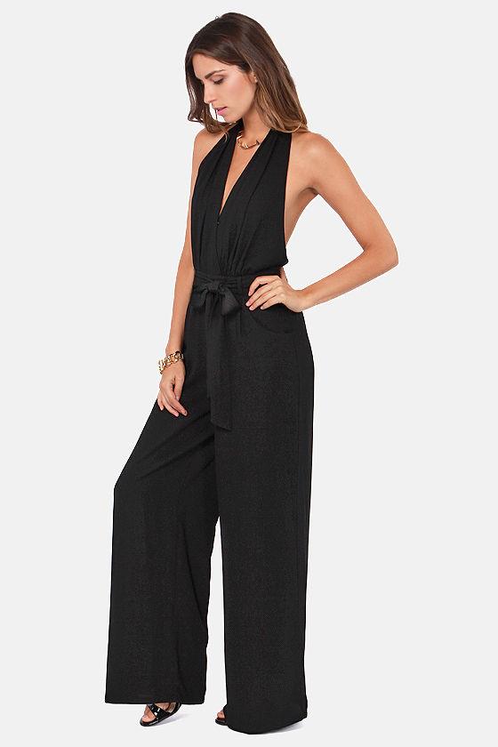 Black Halter Jumpsuits