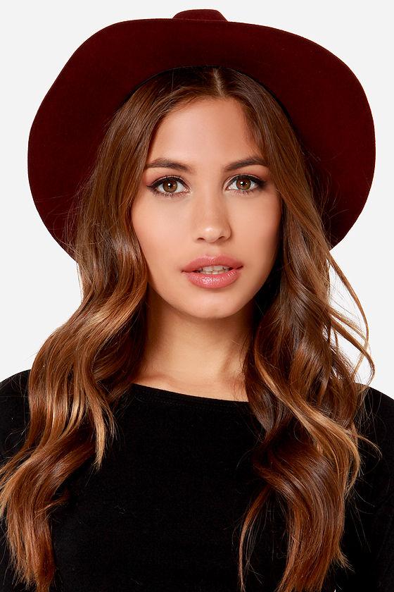 Rhythm The Pocket Hat - Burgundy Hat - Fedora Hat -  30.00 0169713a579