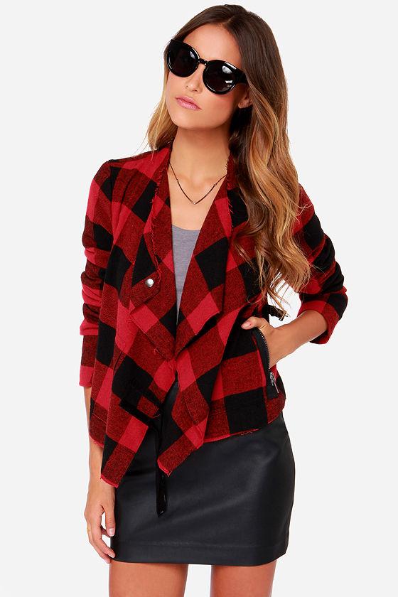 BB Dakota Rosanna Jacket - Plaid Jacket - Flannel Jacket ...