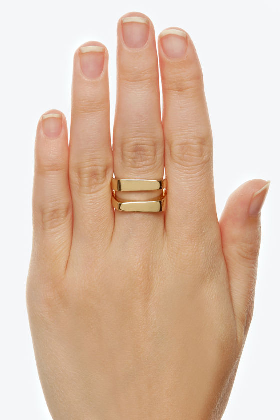 Equal to None Gold Ring at Lulus.com!