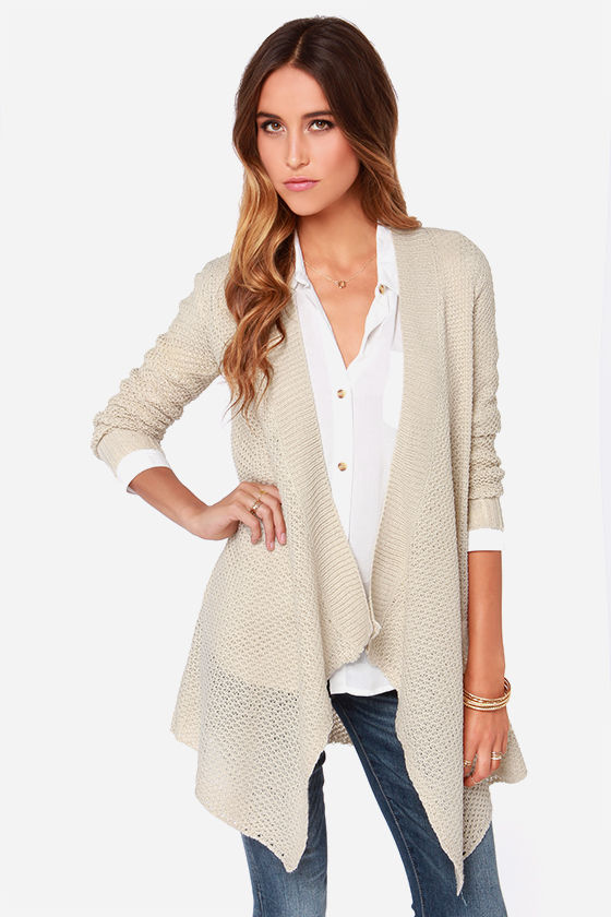 BB Dakota Howell - Beige Cardigan - Open Cardigan - $83.00