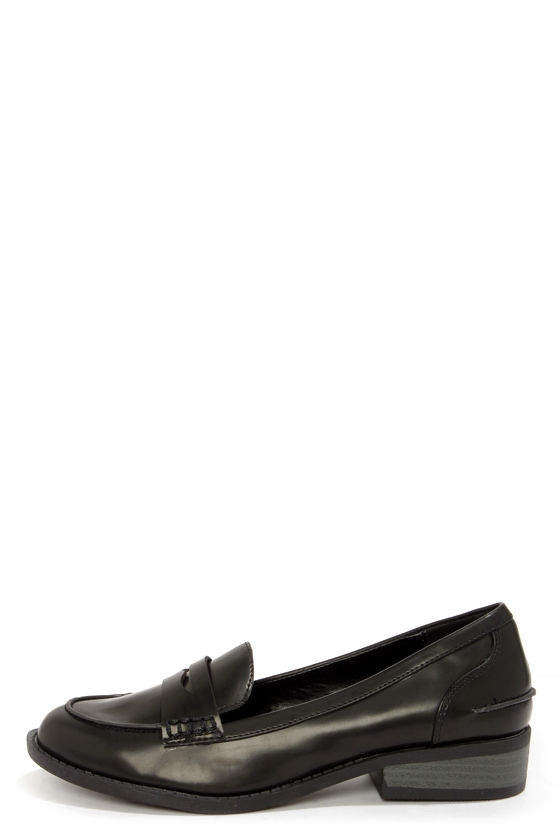 ac025fa5410 Cute Black Penny Loafers - Penny Loafers -  64.00