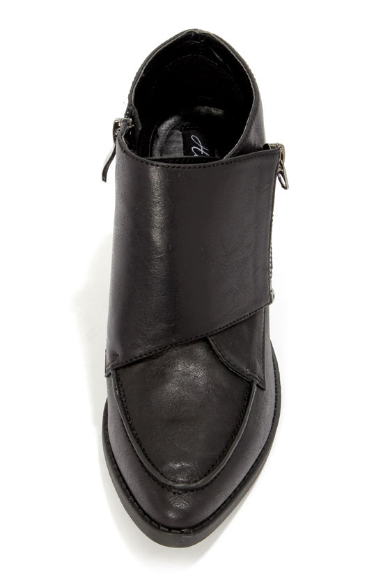 Heart Soul Aldon Black High Heel Ankle Boots at Lulus.com!