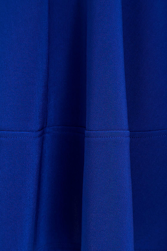 Home Before Daylight Cobalt Blue Dress at Lulus.com!