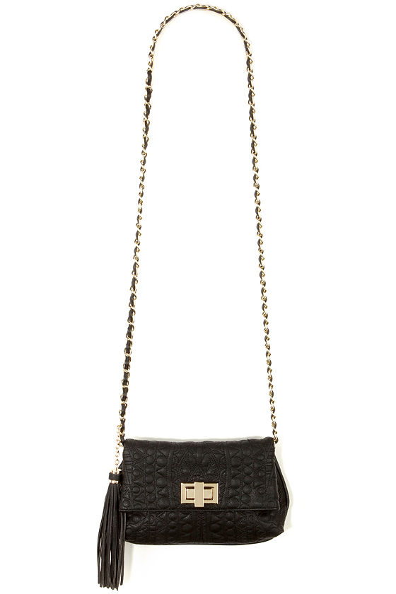 53691b974b3 Big Buddha Jerome - Black Crossbody - Gold Chain Purse - $65.00