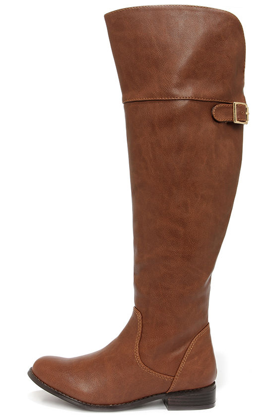 Cute Tan Boots - Over the Knee Boots - OTK - $46.00