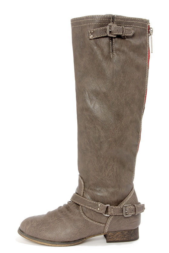 Cute Taupe Boots - Knee High Boots - Riding Boots - $46.00