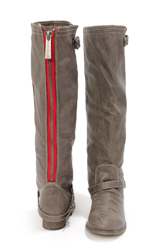 Outlaw 81 Taupe Knee High Riding Boots at Lulus.com!