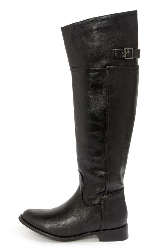 3a3fcb5e1a8c Cute Black Boots - Knee High Boots - Riding Boots - Tall Boots -  47.00
