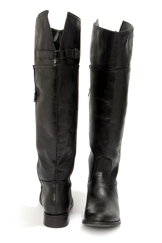 9733142ade23 Cute Black Boots - Knee High Boots - Riding Boots - Tall Boots -  47.00