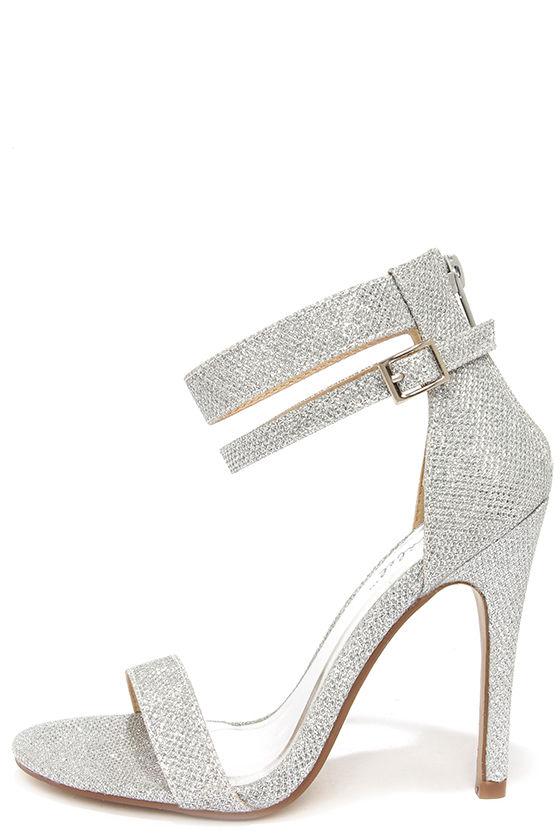 Silver Strap Heels