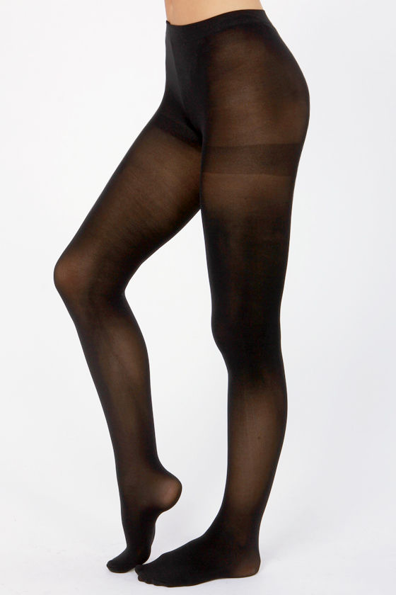 Tabbisocks Opaque a Wish Black Tights at Lulus.com!