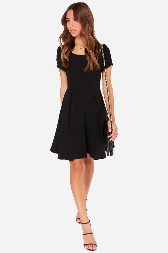 Bakewell Black Dress - LBD - Short Sleeve Dress - $75.00