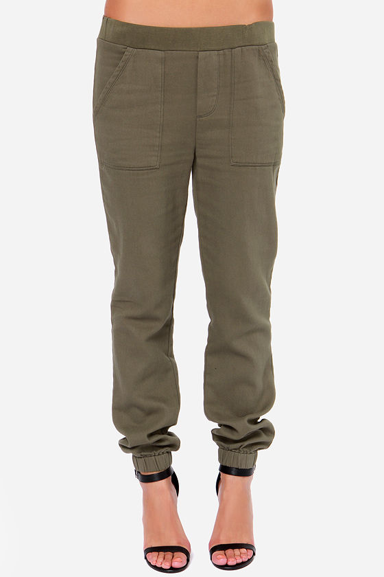 Obey Jamesport Pants - Army Green Pants - Twill Pants - $75.00
